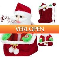 Grotekadoshop.nl: Zingende pluche kerstman in zakje