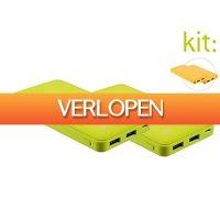 iBOOD Electronics: 2 x Kit Fresh powerbank