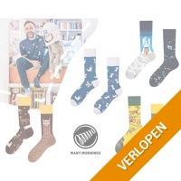 4-pack grappige mismatchende sokken