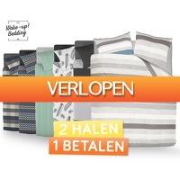 Voordeelvanger.nl: 2 x Wake-Up Bedding dekbedovertrek