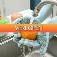 ClickToBuy.nl: Siliconen borstel handschoenen