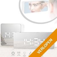 Digitale LED spiegel wekker