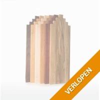 Hippe houten grachtenhuisjes serveerplanken
