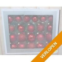42 x glazen kerstballen mix