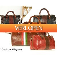 1DayFly Outdoor: Leren italia in progress travel bag
