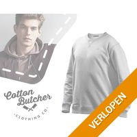 Cotton butcher herensweater