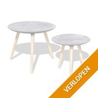 vidaXL salontafel en bijzettafel set