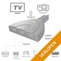 3 Poorts 3D HDMI schakelaar, met 4 K of 1080p