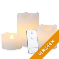 3 x LED kaarsen met bewegende vlam