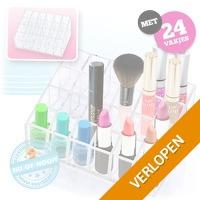 Overzichtelijke make-up display