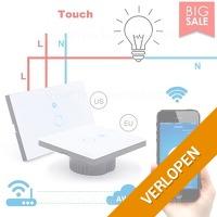 Wifi 1 Touch lichtschakelaar met afstandsbediening