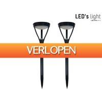 iBOOD Home & Living: 2x LED's Light XXL solar tuinlamp