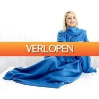 Dennisdeal.com: Warm fleece deken met mouwen