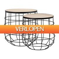 Xenos.nl: 2 x bijzettafel Odense