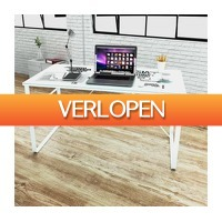 VidaXL.nl: Bureau met wereldkaart opdruk