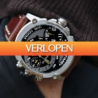 Watch2Day.nl 2: Timecode Marconi Dual Time heren horloge