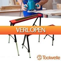 Wilpe.com - Tools: 2 x Toolwelle telescopische werkbanken