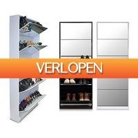 Voordeelvanger.nl 2: Grote schoenenkast met spiegel