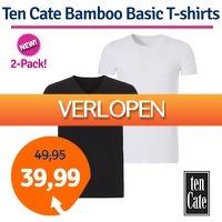 1dagactie.nl: 2-pack Ten Cate Bamboo T-shirts