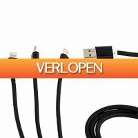 GroupActie.nl: 3-in-1 USB-laadkabel
