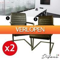 Wilpe.com - Home & Living: 2 x Industriele Swinger eetkamerstoelen
