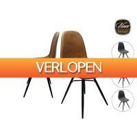 iBOOD Home & Living: 2 x Vince Design Axel eetkamerstoel