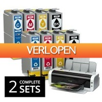 One Day Only: 2 x complete sets inktcartridges