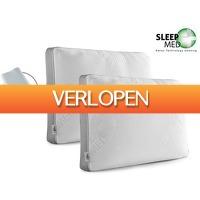 iBOOD.be: 2 x SleepMed memory foam kussen