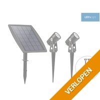 LED's Light tuinspot met zonnepaneel