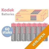 60 x Kodak extra heavy duty batterijen