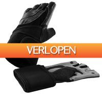 Befit2day.nl: Leren fitness handschoenen met polsbandage