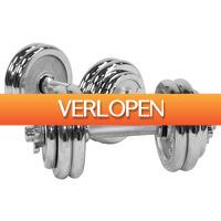 Befit2day.nl: Dumbellset 30 kg chroom