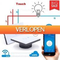 Priceattack.nl: Wifi 1 Touch lichtschakelaar met afstandsbediening