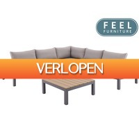 iBOOD Home & Living: Feel Furniture aluminium loungeset