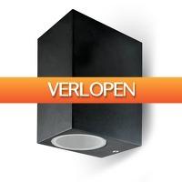 INTOLED: Tweezijdig Oplichtende Buitenlamp Wand Vierkant LED GU10 IP44