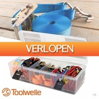 Wilpe.com - Outdoor: 16-delige Toolwelle sjorband set