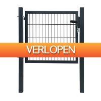 VidaXL.nl: Stalen tuinpoort - antraciet