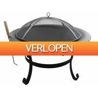 Stuntwinkel.nl: Stalen vuurschaal met vonkenscherm
