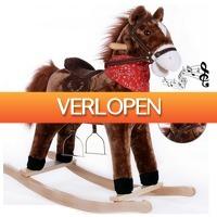Grotekadoshop.nl: Hobbelpaard, schommelpaard met stijgbeugels, zadel en geluidsfunctie