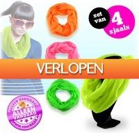 voorHAAR.nl: Set van 4 fel gekleurde colsjaals