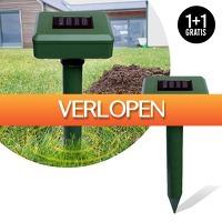 Slimmedealtjes.nl: 2 x solar mollenverjager
