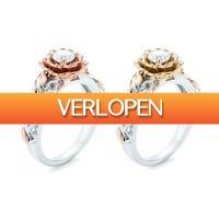 Groupon 1: Ring versierd met kristallen