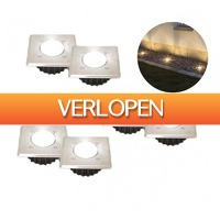 Koopjedeal.nl 1: 6-pack draadloze LED grondspots op zonne-energie