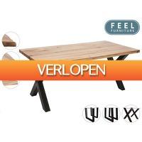 iBOOD Home & Living: Feel Furniture eetkamertafel Oak