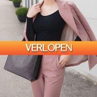 GroupActie.nl: Trendy ruime lederen damestas