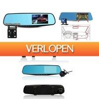 Dealwizard.nl: iBello dashcam en achteruitrijcamera in spiegel