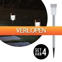 Slimmedealtjes.nl: 4 x Kustaa design tuinverlichting