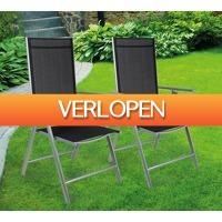 Koopjedeal.nl 1: 2 luxe aluminium tuinstoelen