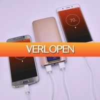 Priceattack.nl: Dual USB Powerbank 20000mAh