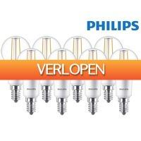 iBOOD.com: 8 x Philips LED Classic dimbare kogellamp